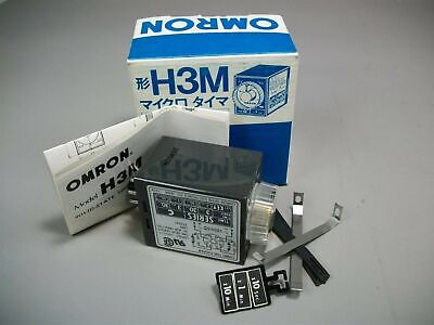 Omron Solid State Timer Relay H3M Series C 120VAC .05 Sec - 30 Min New Old Stock