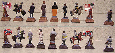 Chess Set Pieces hand painted pewter American Civil War NEW