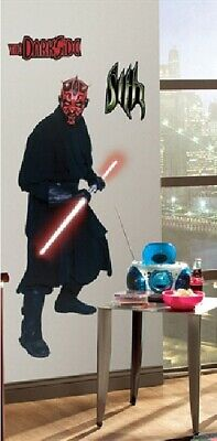 Star Wars Darth Maul Giant Peel and Stick Wall Decal Sticker, NEW SEALED