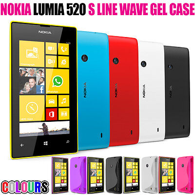 S LINE WAVE SOFT GEL SKIN CASE SCREEN PROTECTOR FOR NOKIA LUMIA 520