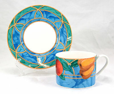 Victoria and Beale Casual FORBIDDEN FRUIT 9024 Flat Cup and Saucer Set 2.375 in.