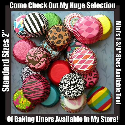 New You Choose Your Own Stacks Cupcake Muffin Baking Liner Assortment! FAST S+H!