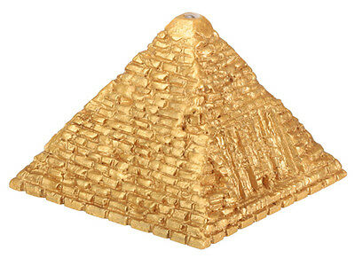 Egyptian Golden Flashing Led Lighted Pyramid.ancient Egypt Souvenir.new