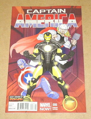 Captain America # 6 - Cover B (1:20) Variant - Marvel Comics