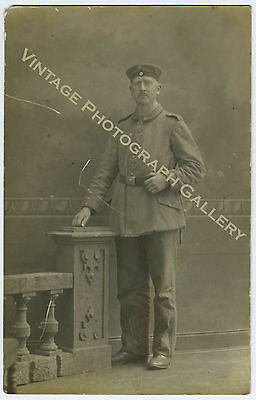 Military Real Photo Postcard RPPC German WWI Soldier
