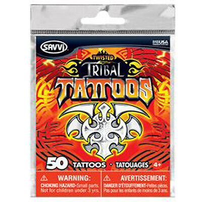 Tribal Temporary Tattoos - over 50 assorted tattoos