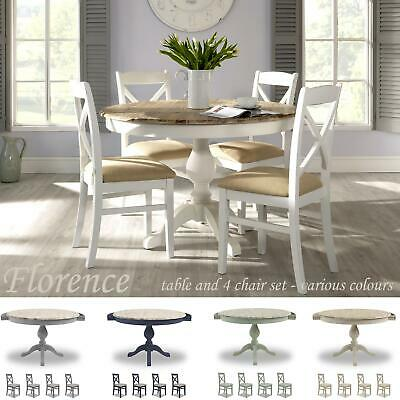 FLORENCE, Beautiful extended round kitchen table and chairs, Choice of colour