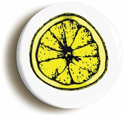 LEMON SLICE LOGO BADGE BUTTON PIN (Size is 1inch/25mm diameter)