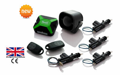 Car Alarms Central Lock+ Immobiliser +Dual Proximity + 4 Door Central Lock Kit