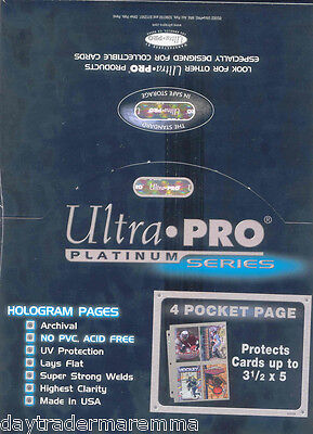 Ultra pro sealed box of 100 x 4 pocket pages