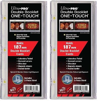 Lot of 2 Ultra Pro Double Booklet One Touch Card Holder UV Protected free ship