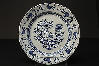 """Hutschenreuther Germany Theresia Blue Plate Blue Onion Charger 10 3/4"""" Diameter"""