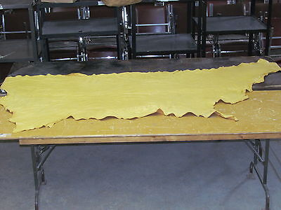 """90"""" X 42"""" Native American Commercially Tanned Moose Hide, Soft, Light Colored"""
