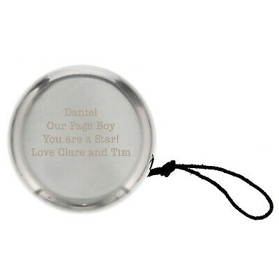 Personalised Silver Finished YoYo - Engraved For Free - Page Boy, Baptism, Baby
