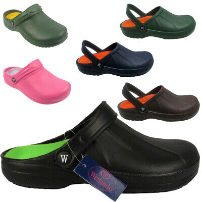 Ladies Mens Garden Clogs Sandal Slippers Beach Hospital Holiday Uk Sizes 3 - 12