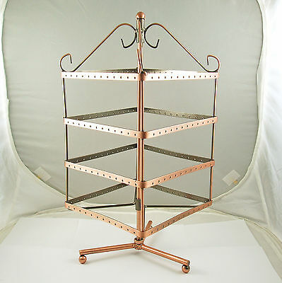 Large Revolving Metal Earring Jewellery Display Stand