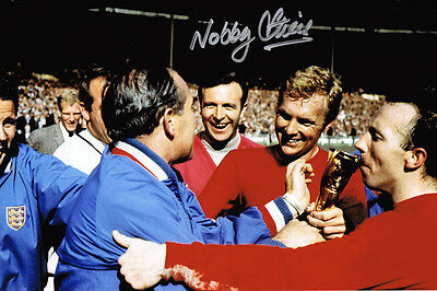 Nobby Stiles SIGNED Autograph England 1966 World Cup Winner 12x8 Photo AFTAL COA