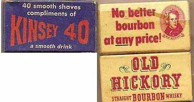 OLD HICKORY STRAIGHT BOURBON WHISKEY/KINSEY 40  5 PACK OF RAZOR BLADES MINT