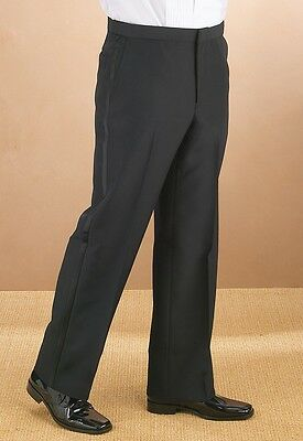 Comfort waist Flat front Men's Tuxedo Pants. Sizes from 28 to 60