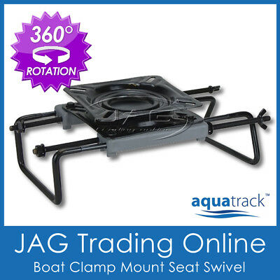 AQUATRACK BOAT SEAT SWIVEL CLAMP-ON ADJUSTABLE MOUNT BASE for Tinnie Bench Seats