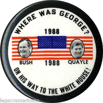1988 Bush Quayle ON WAY TO WHITE HOUSE Campaign Button (2751)