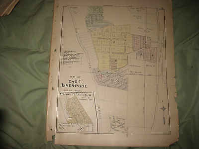 Antique 1902 East Liverpool Garner Hodgson Addition Columbiana County Ohio Map N