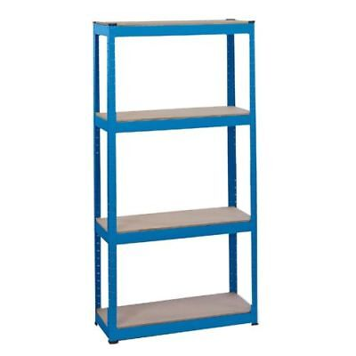 Draper 21658 Steel Shelving Unit - Four Shelves L760 x W300 x H1520mm