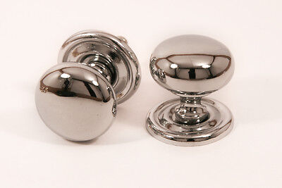 4 x Chrome Door / Shutter / Cabinet Knobs - (RBCP) - SAVE 25%