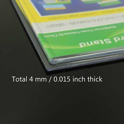 2pcs X Double Sided Clear Business Card Stand Retail Display Holder 5.5x9cm