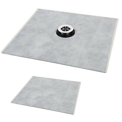 Everbuild Aquaseal Wet Room Kit Tanking waterproof Drain Mat Shower Tray Trap