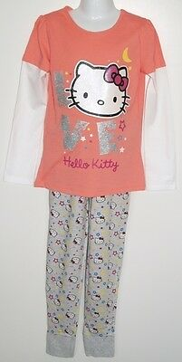 BNWT Hello Kitty Top & Leggings 2 Piece Pink & Grey Set Pink T-Shirt Age 8-9