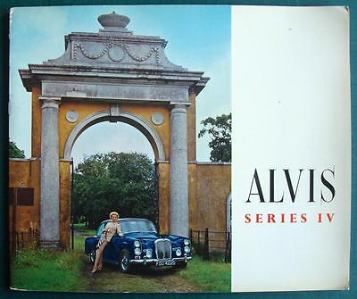 ALVIS SERIES IV (4) - Large Format Car Brochure - 1966