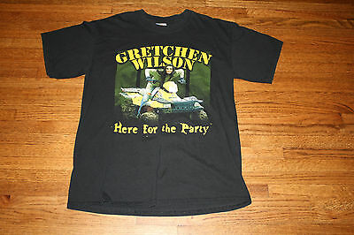 Gretchen Wilson Here for the Party Concert Tour T-Shirt Black Medium Crew Neck