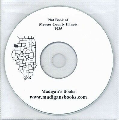 Mercer Co Illinois IL plat genealogy Aldeo land owners history