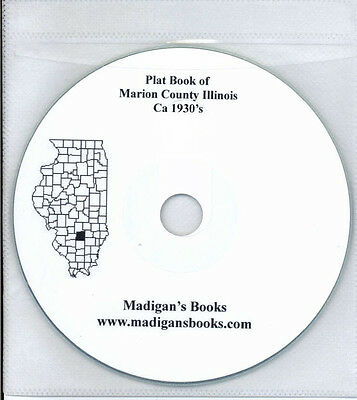 Marion Co Illinois IL plat genealogy Salem Vernon land owners history