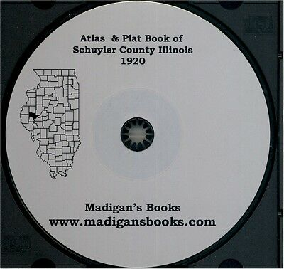 Schuyler  Illinois 1920 Atlas Genealogy history IL land owners history