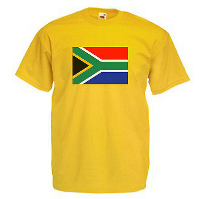 South Africa Flag Adults Mens T Shirt 12 Colours  Size S - 3XL