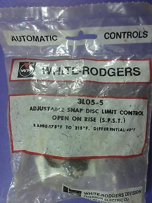 White Rodgers 3L05-5 Adjustable Snap Disc Limit Switch 175F to 215F Open on Rise