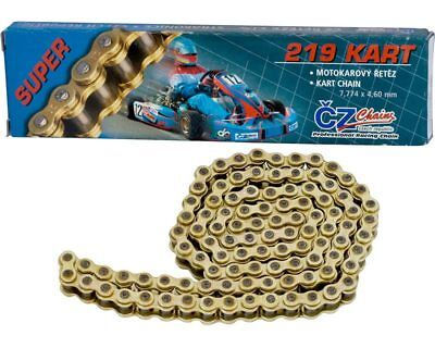 CZ 110 Link 219 Pitch Gold Racing Chain UK KART STORE