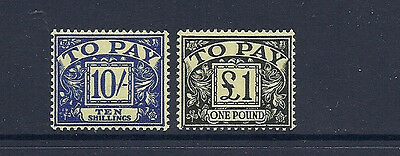 GREAT BRITAIN GB 1959-63 POSTAGE DUES (SG D67-68 2 high values ) F/VF MNH