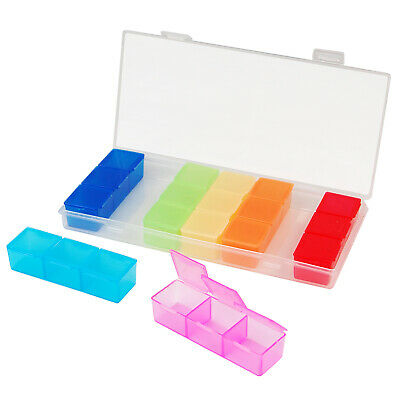 7 Day Pill Box Holder Medicine Dispenser Organizer Tablets Case  - By TRIXES
