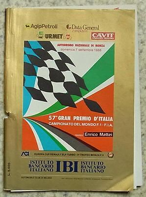 ITALIAN GRAND PRIX FORMULA ONE F1 1986 MONZA Official Programme Small Format