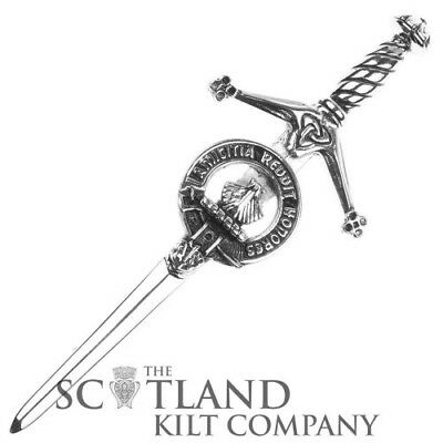 Mens Scottish Made Pringle Clan Crested Boxed Silver Kilt Pin by Art Pewter