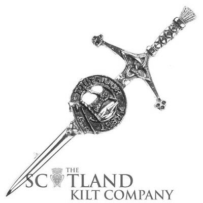 Mens Scottish Made Carmichael Clan Crested Boxed Silver Kilt Pin by Art Pewter