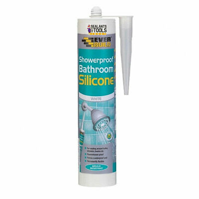 Everbuild Shower Showerproof Silicone Sealant C3 310ml - Clear or White Bathroom
