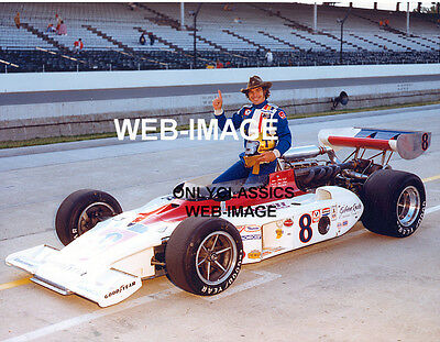 1976 JAN OPPERMAN COWBOY HAT INDY 500 PHOTO - ROUTH MEAT EAGLE OFFY AUTO RACING