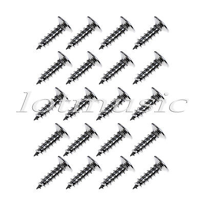 20 Pcs Guitar Pickguard Mounting Screws Chrome Scratch Plate Screws