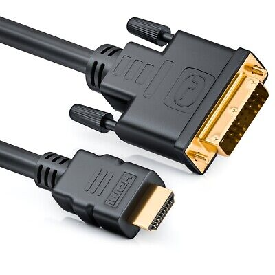 deleyCON 2m HDMI zu DVI Kabel / High Speed zertifiziert / Full HD / 3D