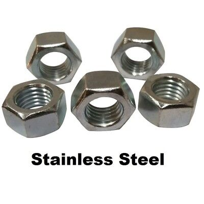 """100 - Stainless Steel Finished / Finish Hex Nuts 1/4""""-20 (18-8)"""