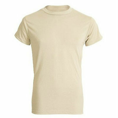 GENUINE U.S. ARMY LOT OF 3 LARGE ACU SAND MOISTURE WICKING T-SHIRTS  POLYESTER